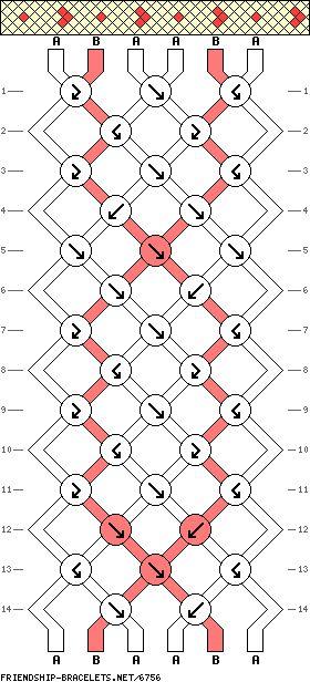 6 strings 14 rows 2 colors