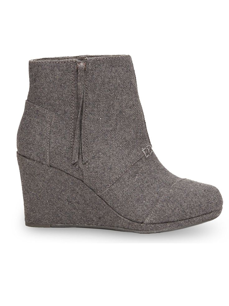 TOMS Desert Wedge Highs add a little lift while being the most comfortable heels in your closet.