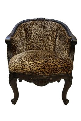 Bailey Leopard Fabric Old World Accent Chair Www Crownjewel Design