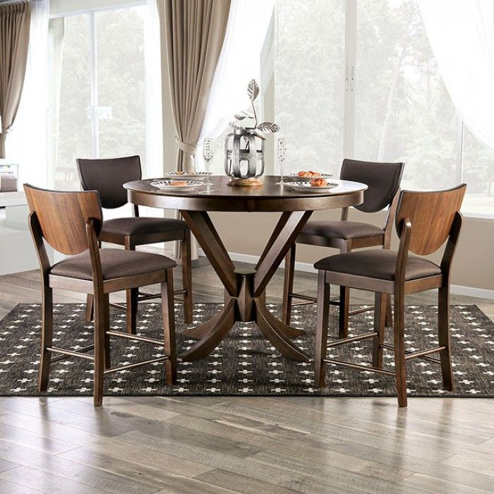 Araiza 5 Piece Counter Height Extendable Dining Set Counter