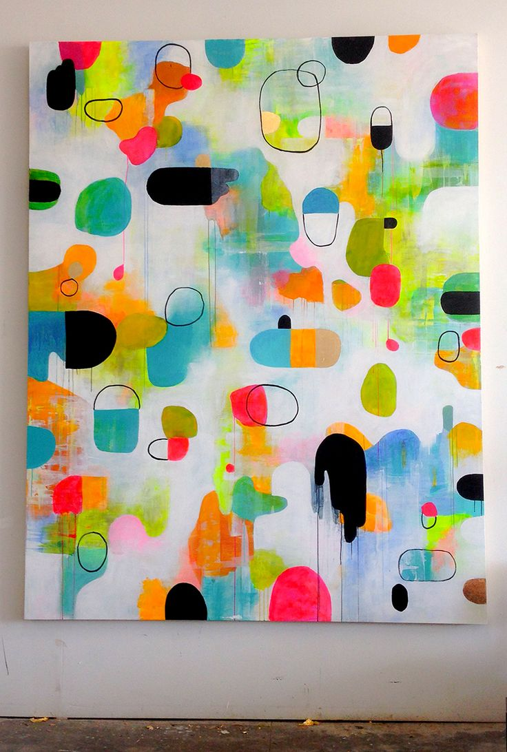 the horse by Lisa Congdon #colorful #abstract #art