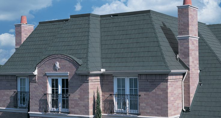 MetalWorks® StoneCrest® Tile in Vermont Blue #shingles #roof