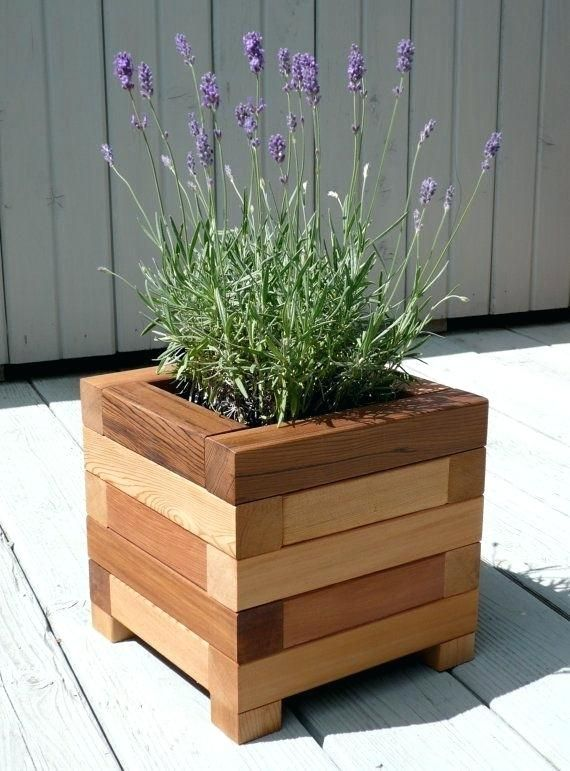 Best Ideas Wooden Planters Planter Homes Regular Flower Genuine Wood Outdoor On Casters Diy Plantenbakken Tuin Decor Tafel Tuin