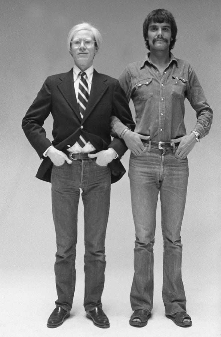 Oliviero Toscani y Andy Warhol. Grandes amigos y colegas.