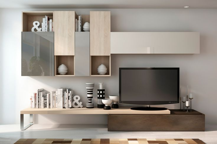 2423 best images about biblioth ques tag res rangement for Meuble tv mural miraz 03