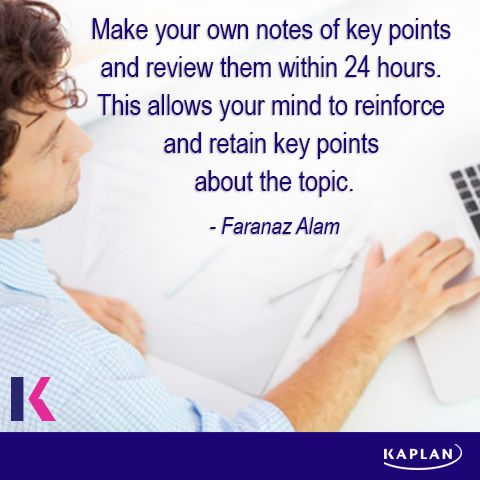 Study tip - Making notes.