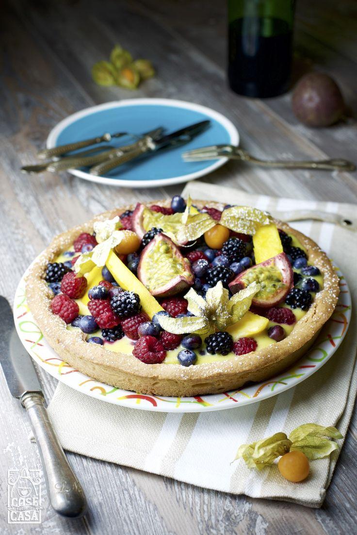 Crostata alla frutta fresca. #frutta #compleanno #torta #food #foodblogger #love #cosefatteincasa #homemade #crostata #crema #frolla #dolci