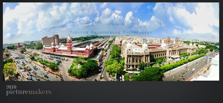 hmmm .........a view of chennai central through fish lens ......credits goes to praveen :)