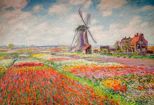 Claude Monet - Fields of Tulips in Holland, 1886 at Musée d'Orsay Paris France
