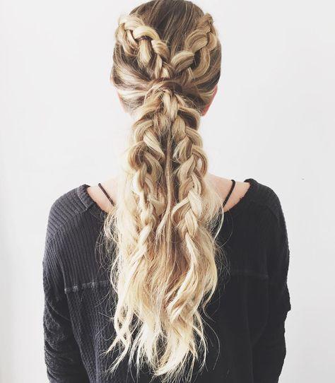A stunning dutch braid ponytail