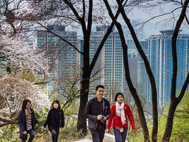Namsan tower in Seoul, Korea.