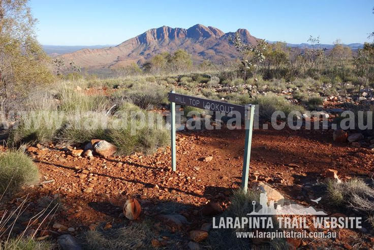 Hilltop Lookout and campsite. One of the most scenic campsites along the Larapinta Trail. Great western views of Mount Sonder. More info: http://www.larapintatrail.com.au/s11campsites.html   © Explorers Australia Pty Ltd 2014