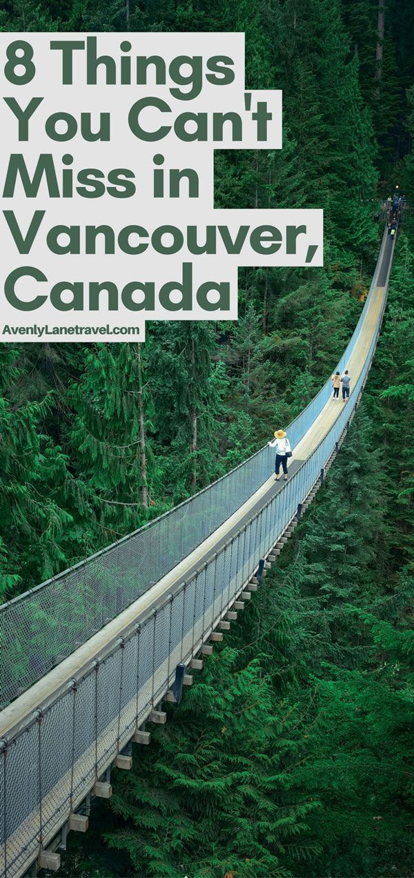 Capilano Suspension Bridge in Vancouver, Canada!  Vancouver is easily one of the most beautiful cities in the world! Explore more of the best things to do in Vancouver, BC on Avenlylanetravel.com.  #canada #travel