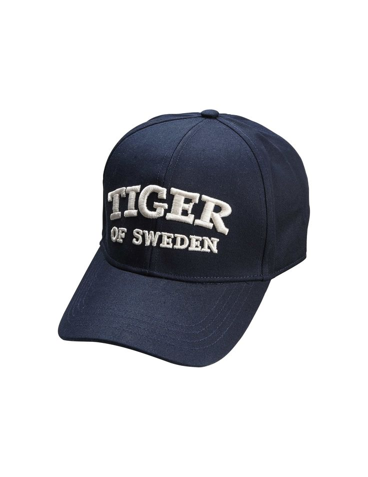 Jarrod cap - Men's classic baseball cap in cotton canvas . Features adjustable leather strap at back. Tiger of Sweden logo embroidery in off-white at front.