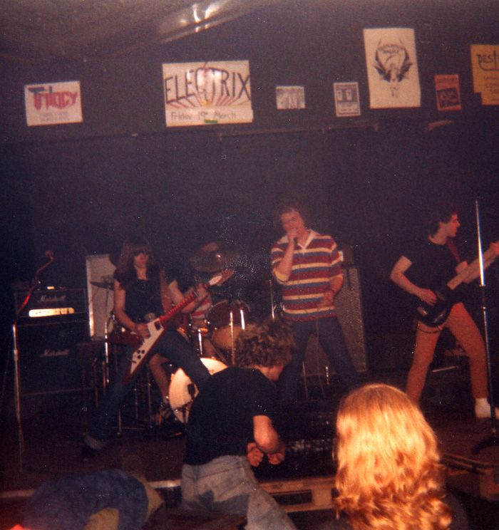 Gibraltar with Dennis Wilcocks ex Iron Maiden vocalist. Ruskin Arms East Ham early 80's.