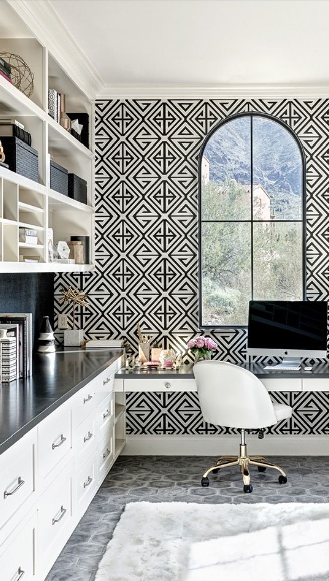 Ladies we deserve an office of our own. Make a statement with these bold office design ideas that will make you swoon. From light fixtures and wallpaper, take a peek at these inspiring ideas. #hadleycourt #boldofficedesign #officelightfixtures #officewallpaper #officeinspiration
