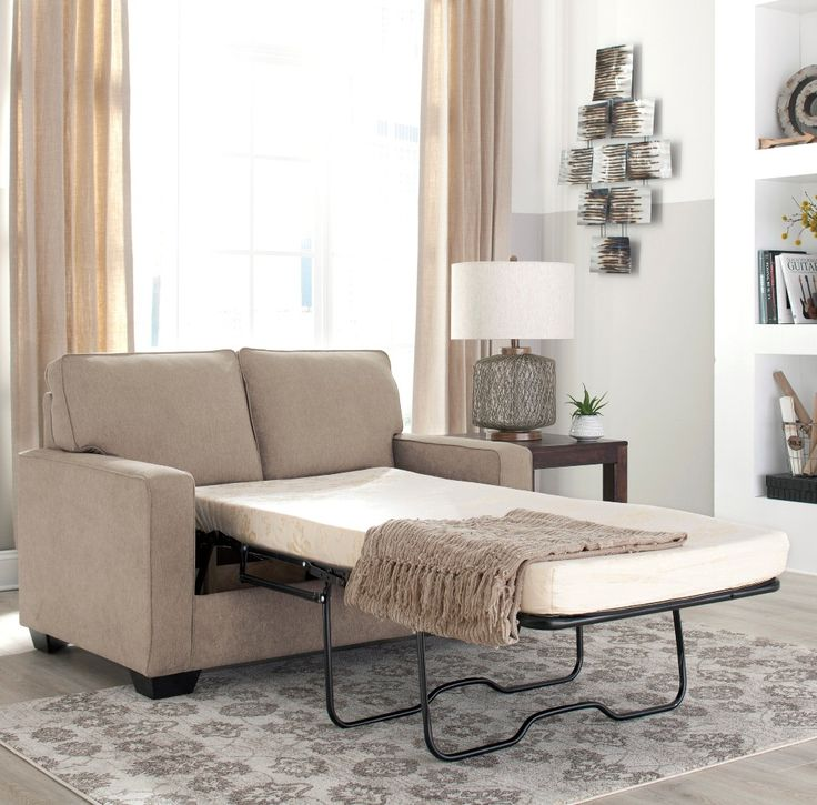 Shelby Twin Memory Foam Sofa Bed only $1099 including tax & free local delivery! #sofa #palluccifurniture https://www.palluccifurniture.ca/shelby-twin-sofa-bed-beige-fabric/