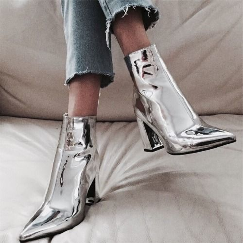 Street Style : streetstyleplatform: ASOS EVANGELINA Pointed Ankle Boots