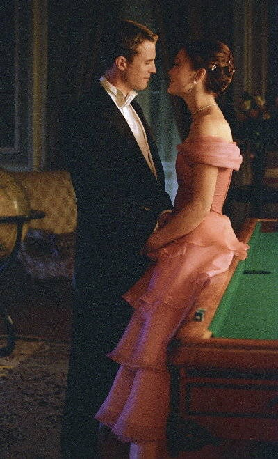 "Julia Stiles Luke Mably Photo - The Prince & Me Movie.  Julia Stiles in this GORGEOUS pink ruffled gown in ""The Prince and Me."" This is SO beautiful, I WANT it!!!"