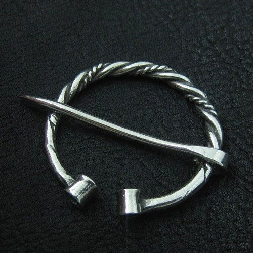 Silver fibula Viking brooch by Sulik on Etsy, $75.00