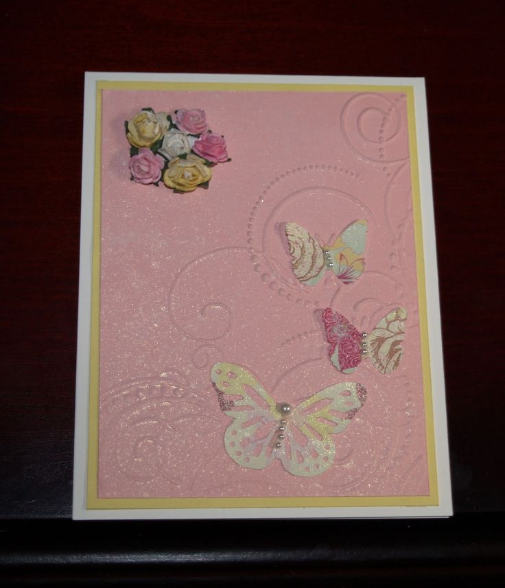 Marvelous Card Making Ideas With Embossing Folders Part - 11: Butterfly Embossing Folder Ideas | Card Is Made With All GKD Cardstock. I  Used Darice