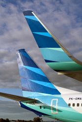 The new-look Garuda Indonesia air fleet. TWA-0002453 © WestPix
