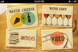 illustration on Cheese & Wine