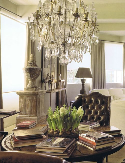 .: Vignettes, Dining Room, Interior, Living Rooms, Chandeliers, Round Table, Book, Light