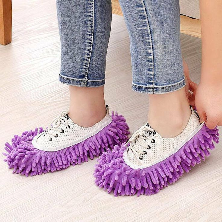 DUSTER SHOE SOCK SLIPPERS MOP DUST REMOVER CLEANING HOME