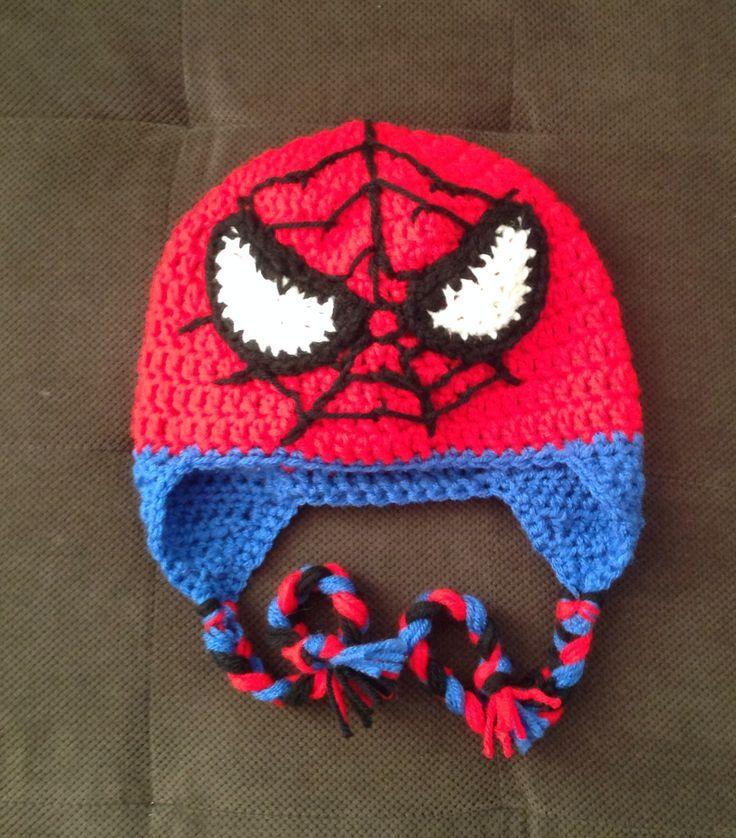 Free Spiderman Knitting Patterns : Crochet Spider-Man hat crochet Pinterest Crochet, Crochet hats and Hats