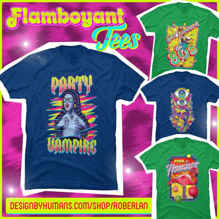 Cool, funky and psychedelic tees. DesignbyHumans Flamboyant Tees by roberlan on deviantART http://goo.gl/hoA7DD