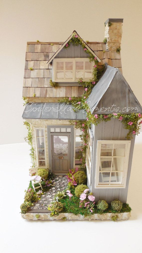 Flamingo Cottage Custom Dollhouse Battery Run by cinderellamoments