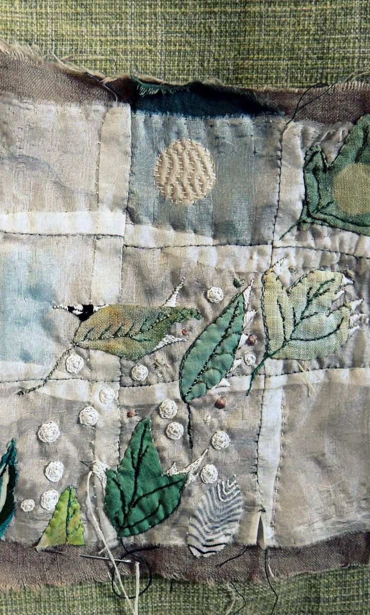 Jude Hill/Spirit Cloth == motifs stitched on top