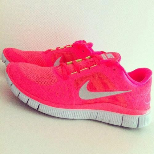 NIKE Sneakers Trainers Running Kaishi White Neon Coral Pink Womens.