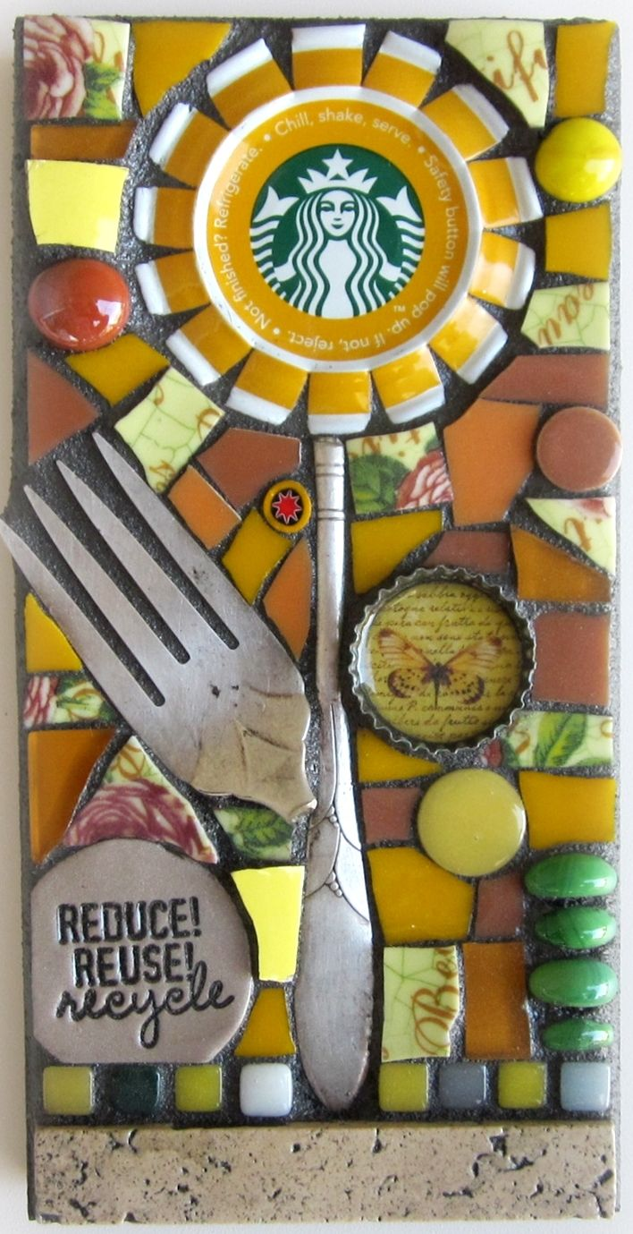 metal cap, fork, etc....make great little designs
