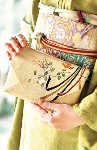 Japanese purse for tea ceremony, Sukiya-bukuro 数奇屋袋