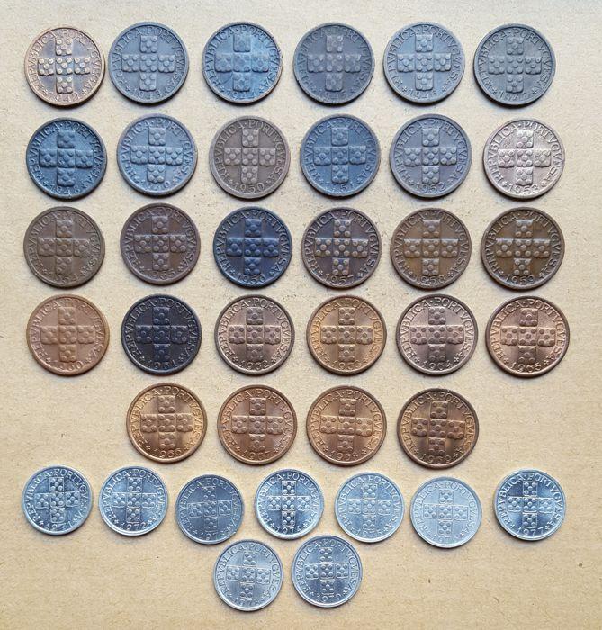 Portugese Republiek-10 Centavos complete collection-Set van 37 munten - 1942 tot 1979 - boven gemiddelde cijfer  EUR 50.00  Meer informatie