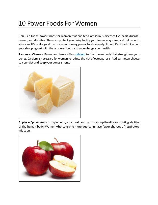 10 Power Foods for #Women. #foodforwomen #calciumforwomen #calcium&vitaminD #vitaminsforwomen #calciumwithvitaminD
