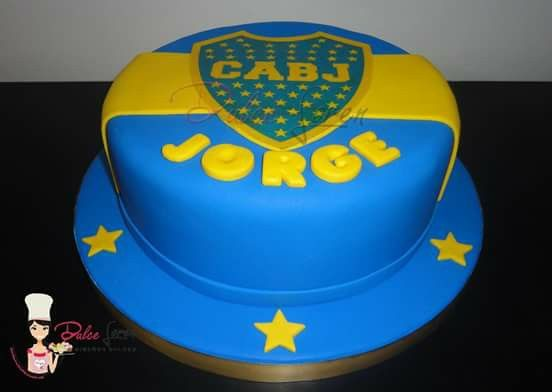 #torta #bocajuniors #escudo #boca #futbol #fanaticos #cake #dulceloren