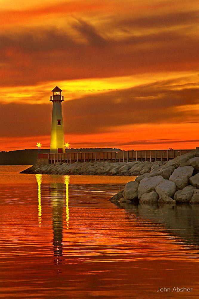 Wawatam Lighthouse in St. Ignace par John Absher