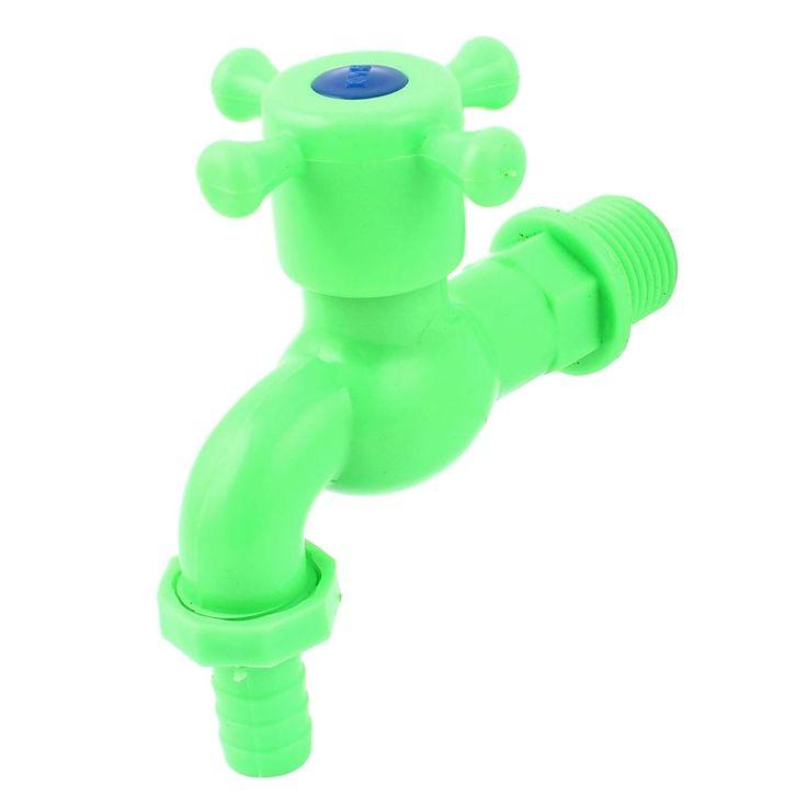 Unique Bargains Plastic Water Pipe Hole Stop Tap Valve Dispenser Faucet Green