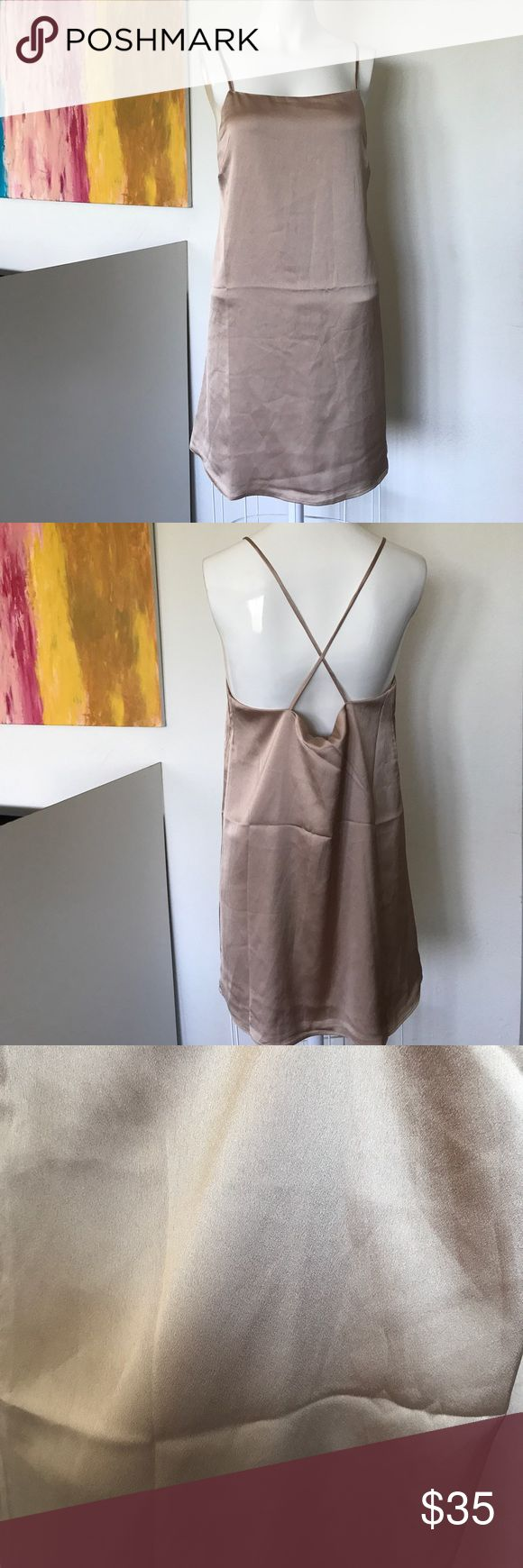 Cotton Candy LA Satin Nude Mini Dress Brand New from Nasty Gal or associated brand. New without tags. All items are authentic. Please refer to Nastygal.com for sizing or reviews if this listing doesn't give you the exact measurement your looking for. I'll be happy to answer any questions.  No padding  No Trade 📍 Nasty Gal Dresses Mini