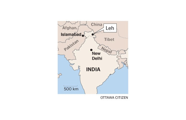 Map of Leh, India