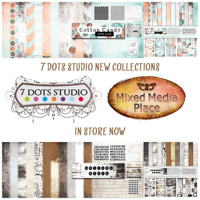 Newest 7 Dots Studio collections - Cotton Candy Dreams and Writer's Block are in store now!!
