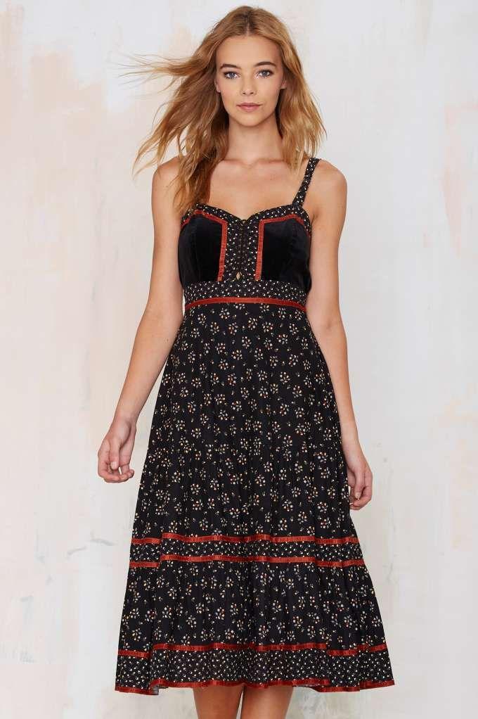 Vintage Celia Floral Dress