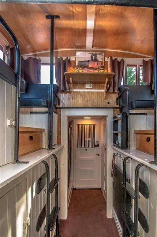 228 Sq  Ft  Railroad Caboose Cabin | Tiny House Living | Tiny house