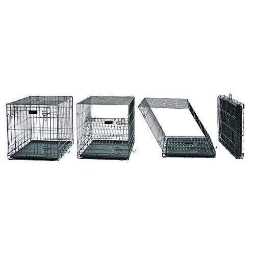 Pet Cage Folding Metal Dog Cat Crate Kennel Playpen 42'' w/ Divider Panel Tall  #MidWestHomesforPets