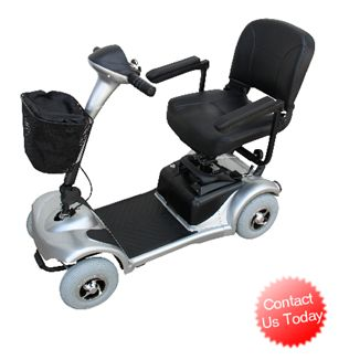 The 390 model mobility scooter provides you with plenty of legroom as well as an elegant, sleek design that's lightweight and inexpensive.  With its easy-to-use control panel and solid frame, you can depend on the 390 to get you where you're going.