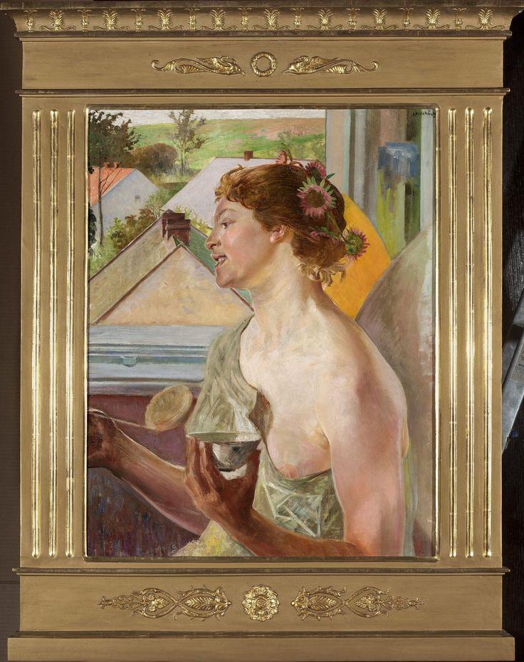 Jacek Malczewski -Bańki mydlane (Kobieta z czarką)