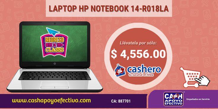 Llévatela de segunda mano, y ¡Ahorra!  #FelizMartes http://www.cashapoyoefectivo.com/computadoras-y-tablets/lap-top-hp-notebook-14-r018la-no-visible.html…